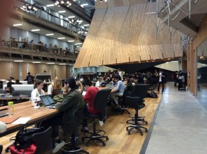 Atrio del edificio de diseño